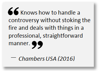 Chambers USA 2016 Quote